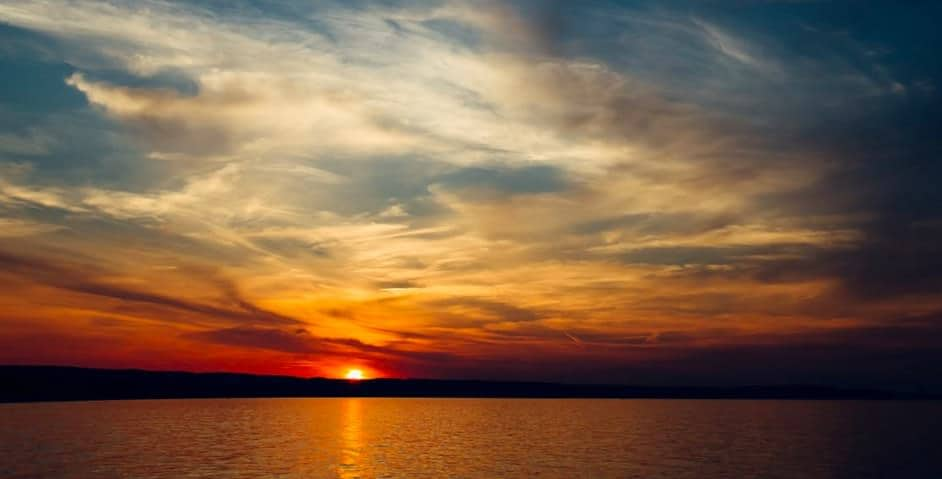 fotografia tramonto sul mare