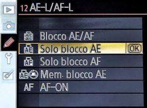 Modalità di personalizzazione pulsante AE-L/AF-L