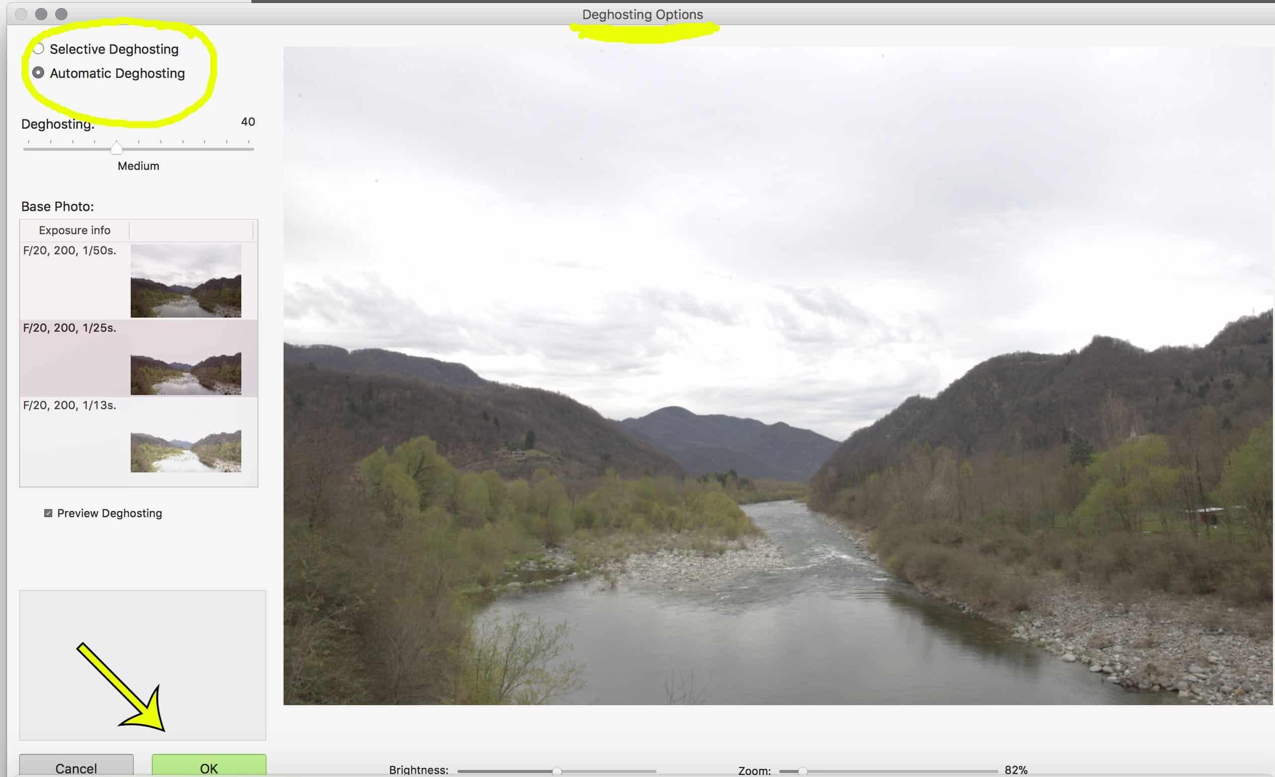 foto HDR, deghosting, Photomatix Pro