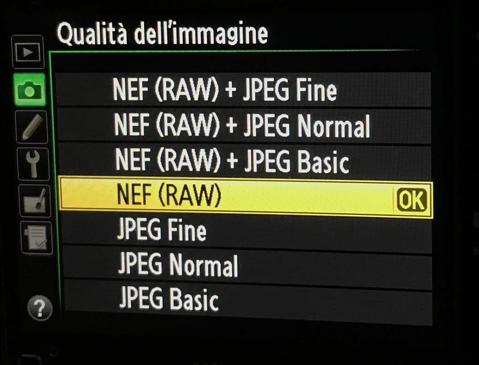 menu raw