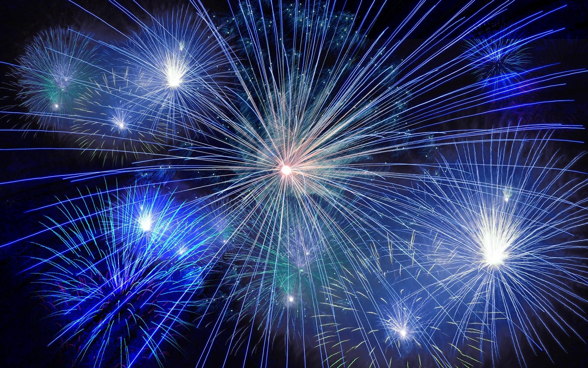fuochi d'artificio, fotografare fuochi d'artificio,