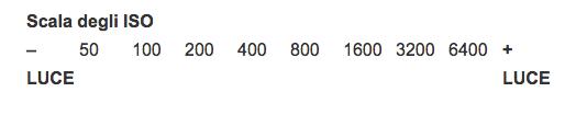 scala degli ISO in fotografia