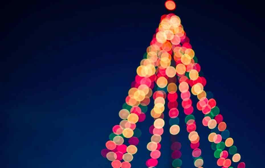 foto natalizia bokeh