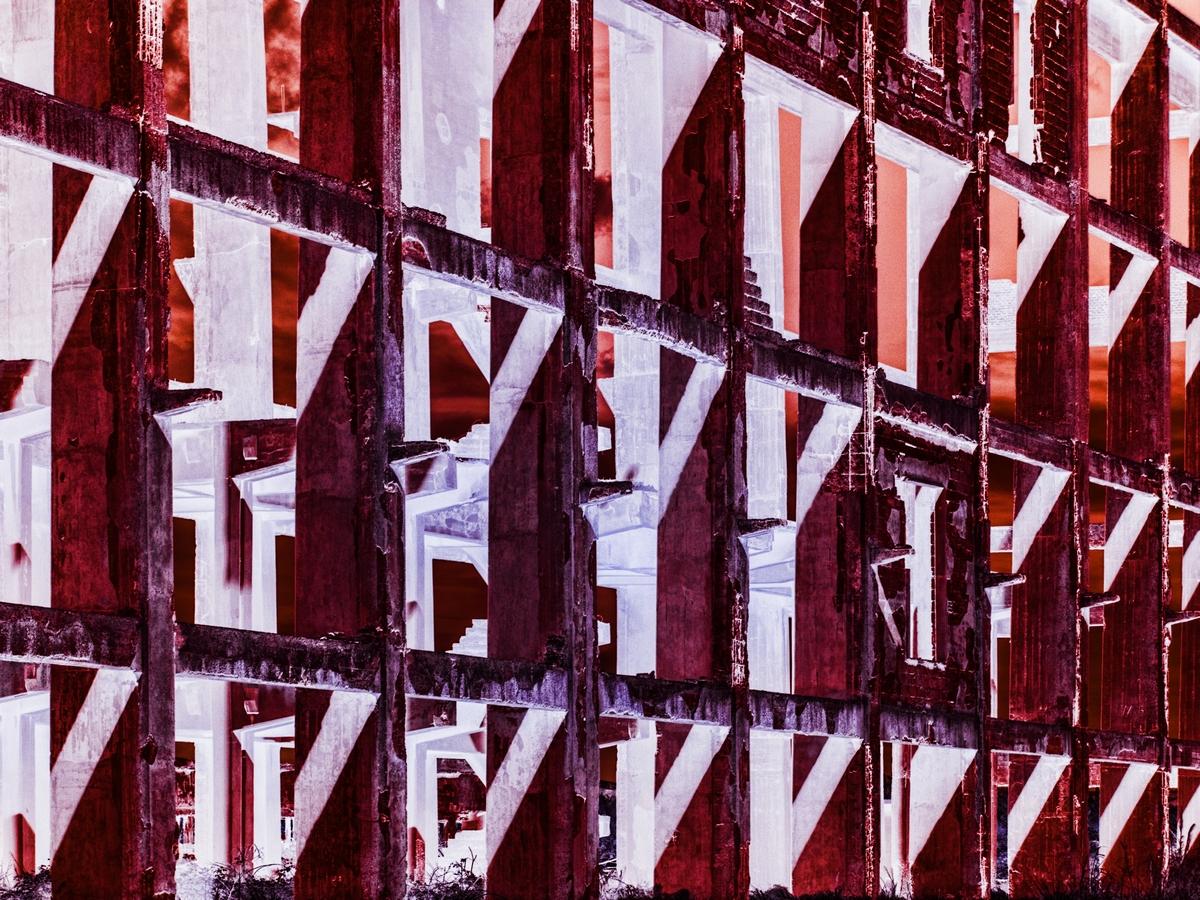 Fotografia di Tarquinia - Tecnica fotografia all'infrarosso