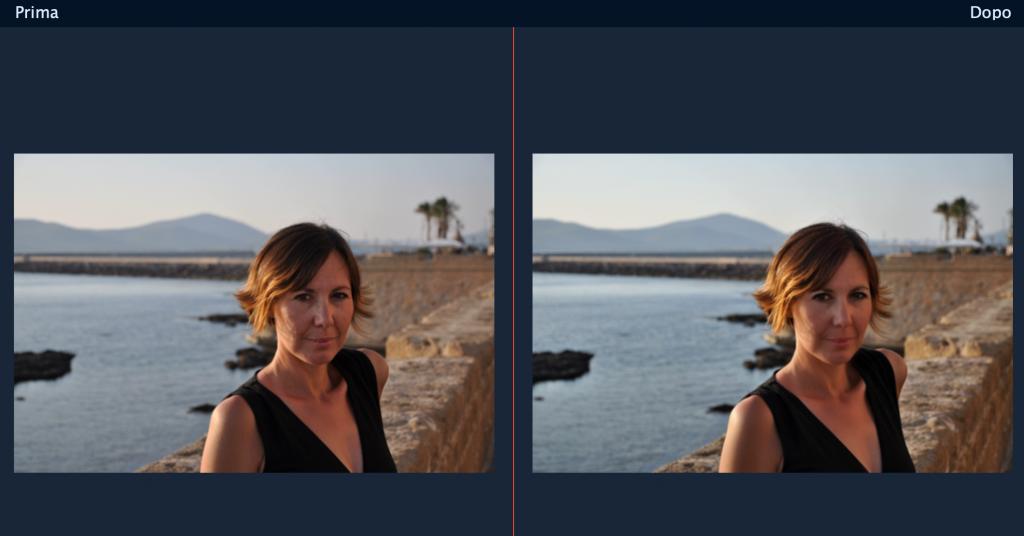 editing di un ritratto di donna con Movavi Photo Editor 5