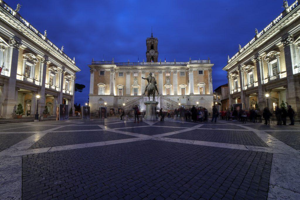 Fotografia di Piazza del Campidoglio- Roma, Obiettivo Samyang 14mm f/2.8 F