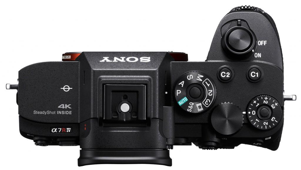 fotocamera Sony A7R IV vista dall'alto