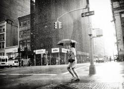 "Street Photography: ""Rain on the 5th Avenue"" di Luke Bhothipiti"